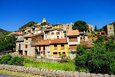 Conat village, Noedes natural reserve, Madres-Coronat massif, Roussillon, Pyrenees-Orientales, France