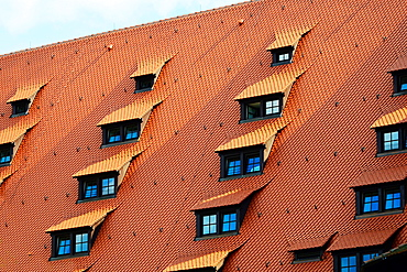 Eyelid Windows on Nuremberg Castle Nurnberg Germany Deutschland DE.