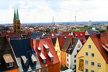 View of Nuremberg from Castle Nurnberg Germany Deutschland DE.