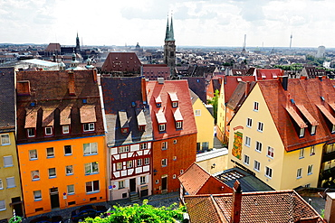 View of Nuremberg from Castle Nurnberg Germany Deutschland DE.