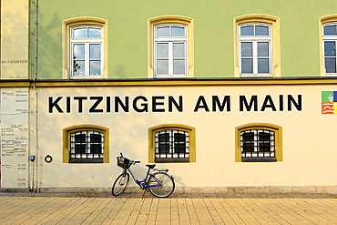 Watermarks from Main River Flooding Kitzingen Germany Bavaria Deutschland DE Bavaria.