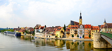 Bridge Across Main River Kitzingen Germany Bavaria Deutschland DE Bavaria.
