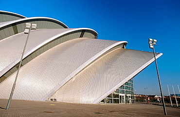 Scottish Exhibition and Conference Centre. Armadillo Building, side view. Glasgow, Scotland. UK.