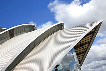 Roof detail from the Armadillo Bullding, used as a conference centre and concert venue.Part of the SECC, Scottish Exhibition and Conference Centre, Anderston Quay, Glasgow, Scotland