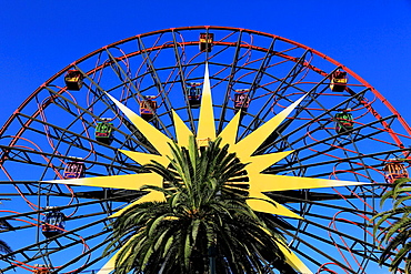 The Mickey's Fun Wheel in Paradise Pier in Disney California Adventure Park. Anaheim. California. USA