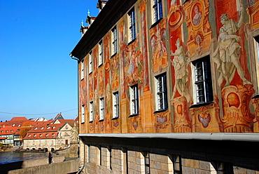 Baroque facade of the Town Hall of Bamberg