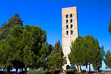 Bell tower of San Nicolas church, declarated National Monument. Coca, Segovia province. Spain.