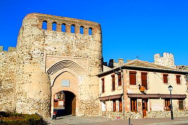 Village door, in coca, Segovia province. Spain.