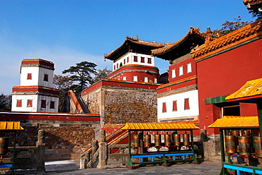 China, Hebei Chengde, summer residence of the Manchu Emperors of the early Qing Dynasty, Puning Si temple, the temple of universal peace built during the reign of Emperor Qianlong, listed as a World Heritage by UNESCO