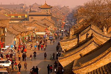 China, Shanxi, Pingyao, founded around the year 800 BC, listed as World Heritage by UNESCO, West Street
