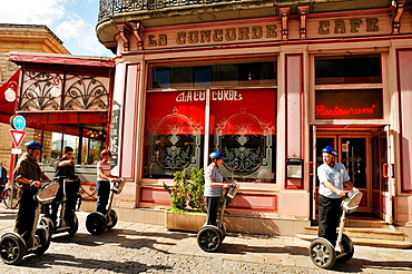 Cultural tour on Segway proposed by the city of Dijon, Place Darcy, Dijon, Cote d¥Or, Burgundy, France