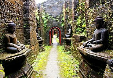 The beautiful old temples of Mrauk U in western Myanmar.