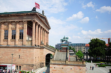 Germany, Berlin, Mitte district, Museumsinsel island, Alte Nationalgalerie Old National Gallery.