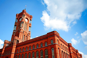 Germany, Berlin, Alexanderplatz Square, Rotes Rathaus, Red Town Hall.