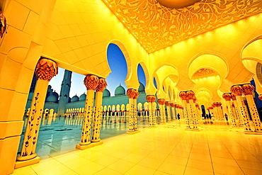 Sheik Zayed Mosque, Grand Mosque, Abu Dhabi, UAE.
