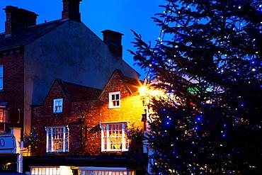 The Oldest Chemist Shop at Christmas Knaresborough Yorkshire England