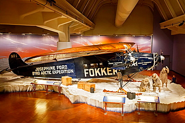 Dearborn, Michigan, The 1925 Fokker F-VII Trimotor on display at the Henry Ford Museum.