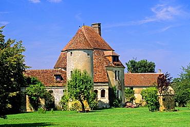 Manor of Fresnaye-au-Perche, Saint-Germain-de-la-Coudre, Regional Natural Park of Perche, Orne department, Lower Normandy region, France, Western Europe.