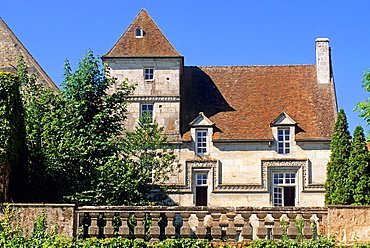 historic town house at Mortagne-au-Perche, Regional Natural Park of Perche, Orne department, Lower Normandy region, France, Western Europe.