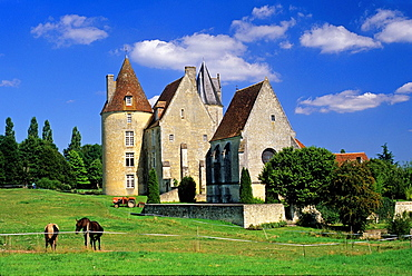 La Vove manor house at Corbon, Regional Natural Park of Perche, Orne department, Lower Normandy region, France, Western Europe.