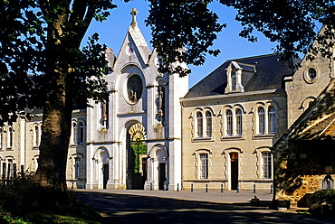 La Trappe Abbey at Soligny-la-Trappe, Regional Natural Park of Perche, Orne department, Lower Normandy region, France, Western Europe.