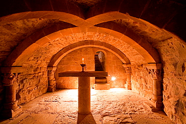 Crypt of Orisoain church. Valdorba. Navarre. Spain.