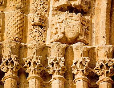 San Saturnino church. Cerco de Artajona. Navarre. Spain.