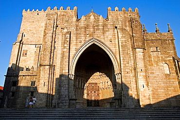 Tui cathedral. Romanic art. Pontevedra. Galicia. Spain.