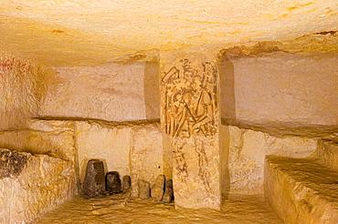 Europe, Italy, Lazio, Tarquinia, Necropolis Of Monte Calvario, Tomb 5636, Second Half Of The Iii Century Bc