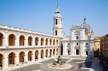Europe, Italy, Marche, Loreto, Square Of The Madonna, The Apostolic Palace And The Sanctuary Of The Holy House
