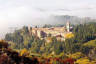 Europe, Italy, Tuscany, Monte Oliveto Maggiore Abbey