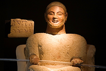 Europe, Italy, Tuscany, Chiusi, Archaeological Museum, Exhibition Of Etruscan Art, Collection Of Pietro Bonci Casuccini, Cinerary Statue Called Plutone
