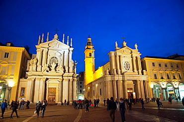 Piazza San Carlo square central Turin city Piedmont region northern Italy Europe.