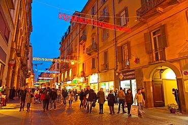 Via Lagrange pedestrian street Turin Piedmont region Italy Europe.