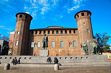 Palazzo Madama at Piazza Castello the Castle square central Turin city Piedmont region northern Italy Europe.
