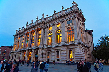 Palazzo Madama houses Museo Civico d'Arte Antica archeological museum Piazza Castello central Turin Piedmont Italy Europe.