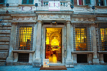 Galleria Imperiale antiques show room Piazza Campetto square centro storico the old town Genoa Liguria region Italy Europe.