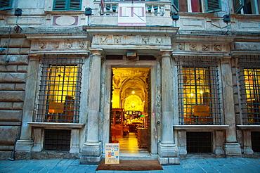 Galleria Imperiale antiques show room Piazza Campetto square centro storico the old town Genoa Liguria region Italy Europe.