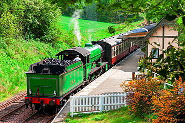 steam train, Bo'Ness Kinneil Railway, Lothians, Scotland.