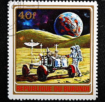 Exploring of space, postage stamp, Burundi