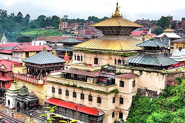 Golden temple (1614), Pashupatinath, Kathmandu, Nepal.