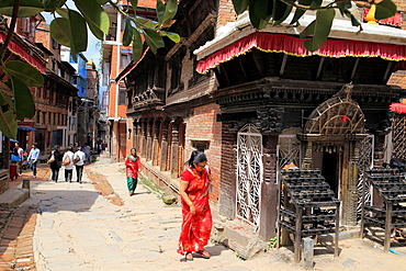 Street in the old town, Patan, Lalitpur, Nepal.