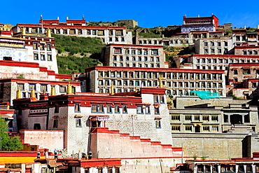 Ganden Monastery, Wangbur Mountain, Lhasa, Tibet, China.