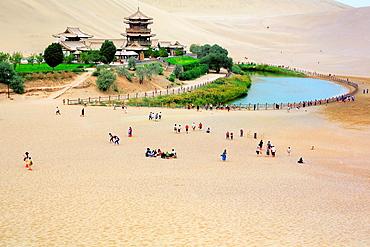 Crescent Lake, Dunhuang, Gansu province, China.