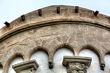 Apse of Cefalu Cathedral, Cefalu, Sicily, Italy.
