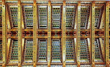 Ceiling of Monreale Cathedral, Monreale, Sicily, Italy.