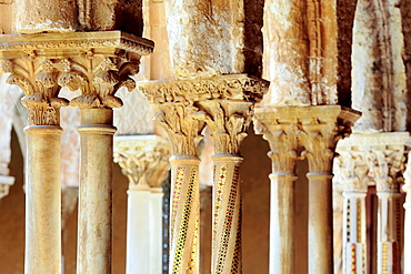 Cloister of Monreale Cathedral, Monreale, Sicily, Italy.