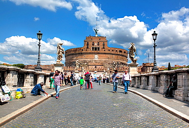 Ponte Sant'Angelo (Aelian Bridge, Pons Aelius), Rome, Italy.