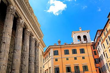 Temple of Hadrian (145), Piazza di Pietra, Rome, Italy.