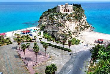 Church Santa Maria dell Isola on Isola Bella, Tropea, Calabria, Italy.